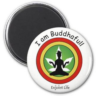 Imán Soy Buddhafull - oro rojo y verde por la vida de
