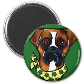 Imán St. Patty del perro del boxeador