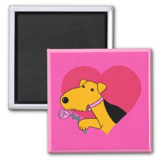 Imán subió w de la tarjeta del día de San Valentín
