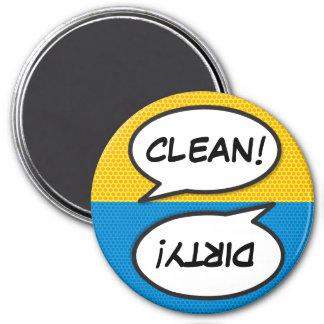 Imán Sucio limpio del lavaplatos del arte pop del cómic
