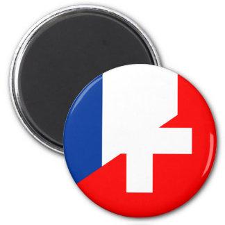 Imán suizo del símbolo del país de la bandera de Suiza