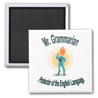 Imán Super héroe del fanático de la gramática