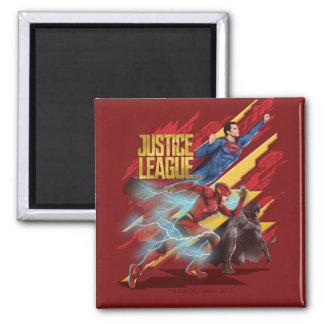 Imán Superhombre de la liga de justicia el |, flash, y