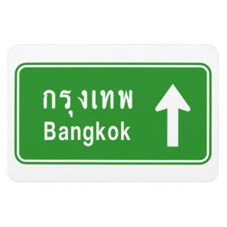 Iman ⚠ tailandés de la señal de tráfico de la carretera