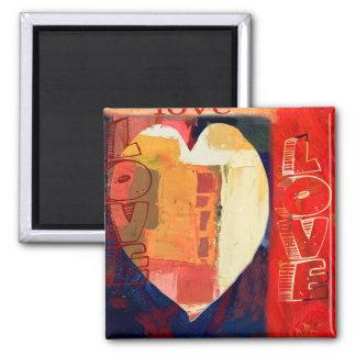 Imán Tarjetas del día de San Valentín coloridas
