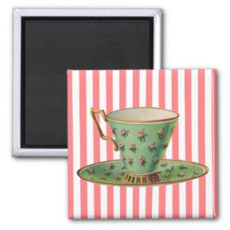 Imán Taza de té del Victorian del vintage