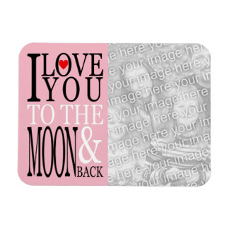 Iman Te amo a la luna y a la foto trasera