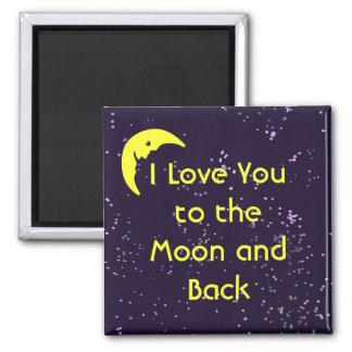 Imán Te amo a la luna y a la parte posterior