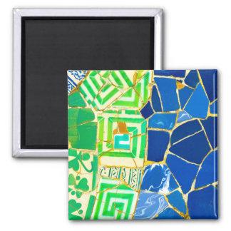 Imán Tejas verdes de Parc Guell del mosaico en