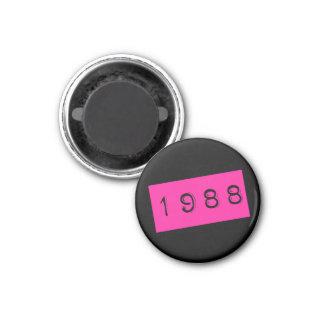 Imán Tema rosado de 1988 años 80 del cumpleaños