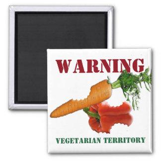 Imán Territorio divertido del vegetariano/del vegano