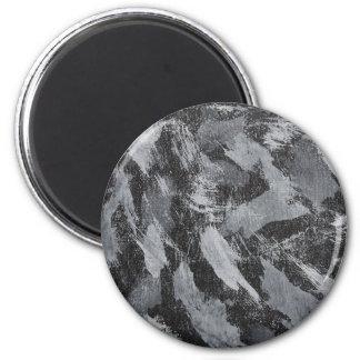 Imán Tinta blanca en el fondo negro #3