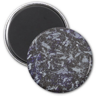 Imán Tinta blanco y negro en fondo púrpura