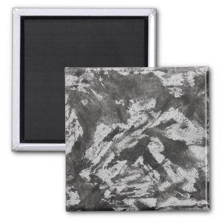 Imán Tinta negra en el fondo blanco #2