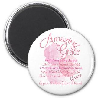 Imán Tipografía color de rosa rosada hermosa de la