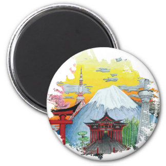 Imán Tokio con arte de la original del monte Fuji