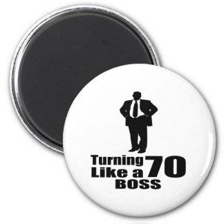 Imán Torneado de 70 como Boss