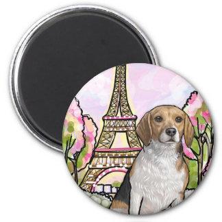 Imán torre Eiffel París del beagle