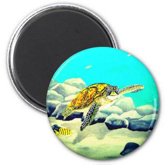 Imán Tortuga de mar que pinta el mar azul hermoso
