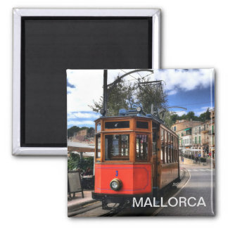 imán tren de Soller, en la isla de Mallorca