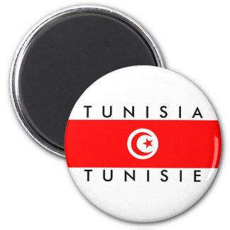 Imán tunisie del símbolo del texto del nombre de la