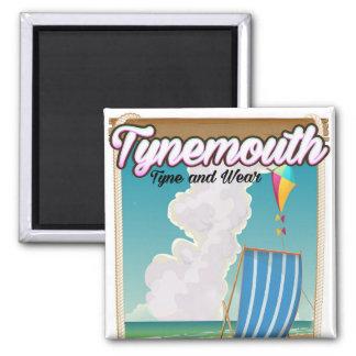 Imán Tynemouth Tyne y desgaste, poster del viaje
