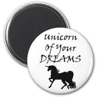 Imán Unicornio de sus sueños (negro)