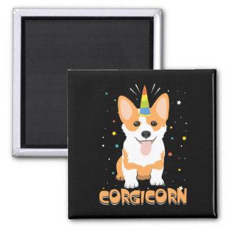 Imán Unicornio del Corgi - Corgicorn - dibujo animado