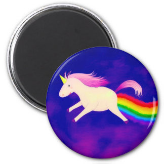 Imán Unicornio divertido del vuelo Farting un arco iris