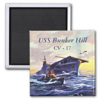 Imán USS Bunker Hill en el mar