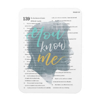 Iman Usted me conoce, salmo 139, silueta masculina