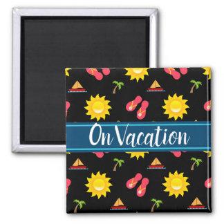 Imán Vacaciones de las sandalias de Sun del velero