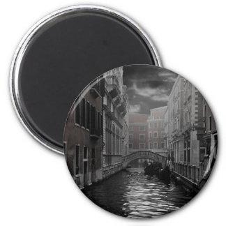 Imán Venecia en blanco y negro