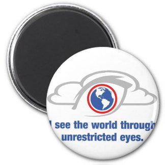 Imán Veo el mundo a través de ojos sin restricción