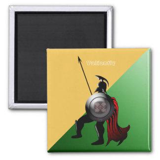Imán Verde y amarillo espartanos antiguos del guerrero