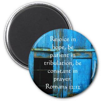 Imán Verso de la biblia del 12:12 de los romanos sobre