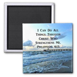IMÁN VERSO PRECIOSO DE LA BIBLIA DEL 4:13 DE LOS