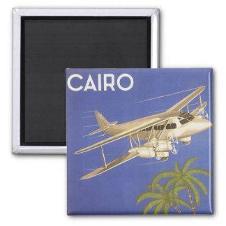 Imán Viaje del vintage a El Cairo, Eygpt, aeroplano del