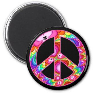 Imán Viaje maravilloso del signo de la paz del fractal