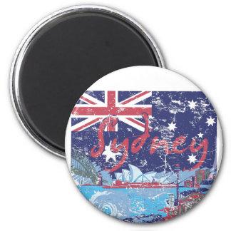 Imán vintage Australia de Sydney