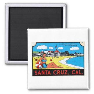 Imán Vintage de la etiqueta del equipaje de Santa Cruz,