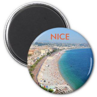 Imán Vista aérea de la playa en Niza, Francia