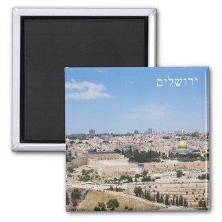 Imán Vista de la ciudad vieja de Jerusalén, Israel