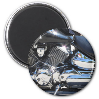Imán Vista lateral cromada motocicleta del detalle del