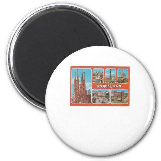 Imán Vista retrospectiva de Barcelona