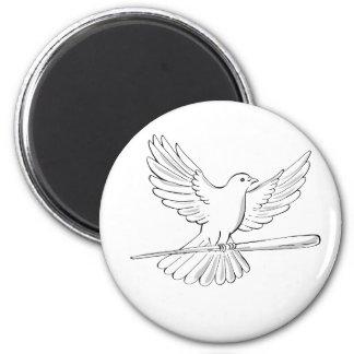 Imán Vuelo de la paloma o de la paloma con el dibujo