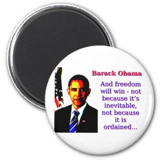 Imán Y la libertad ganará - a Barack Obama