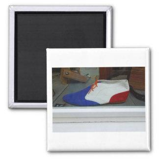 Imán Zapato azul blanco rojo de la fotografía holandesa