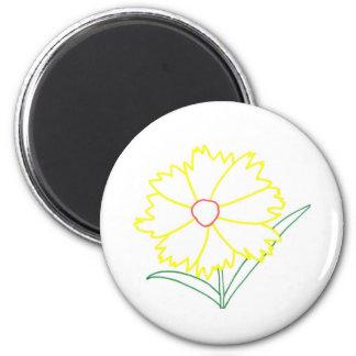Imanes amarillos del dibujo de la flor del imán redondo 5 cm