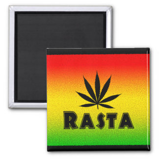 Imanes cuadrados de Rastafarian de la hoja de Imán Cuadrado